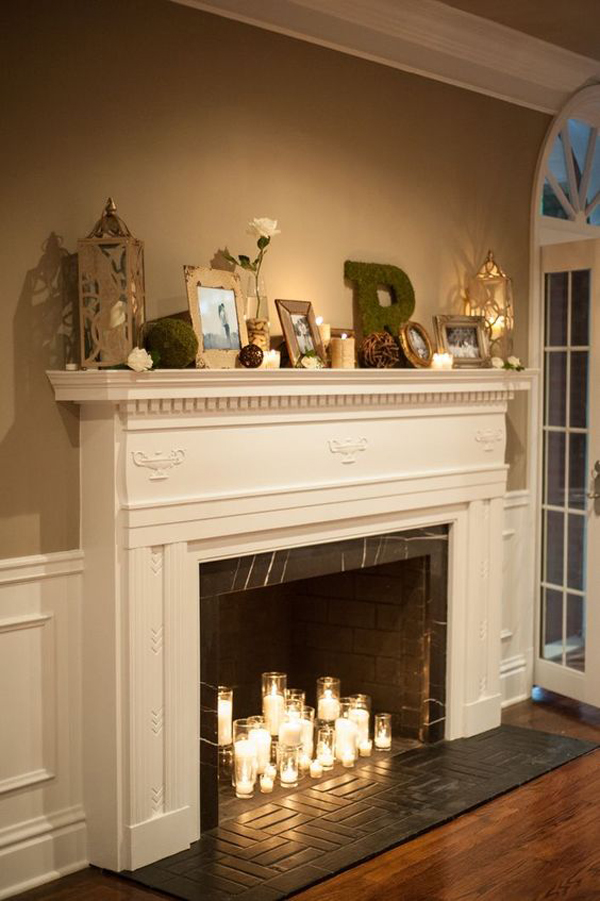 romantic-candle-fireplace-decor