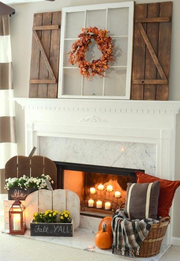 romantic-fall-mantel-decor-ideas