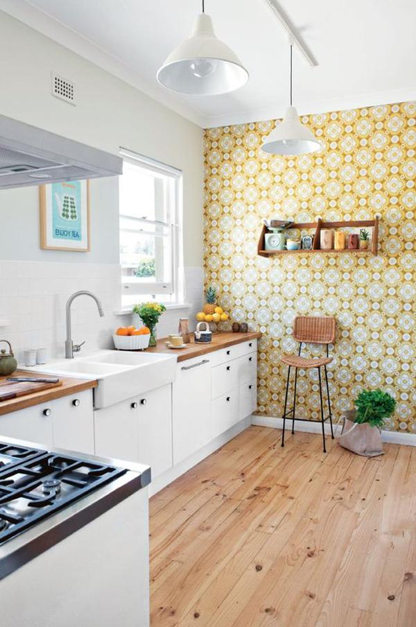 rustic-yellow-kitchen-wallpaper