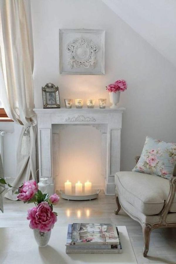 shabby-chic-romantic-fireplace-decoration