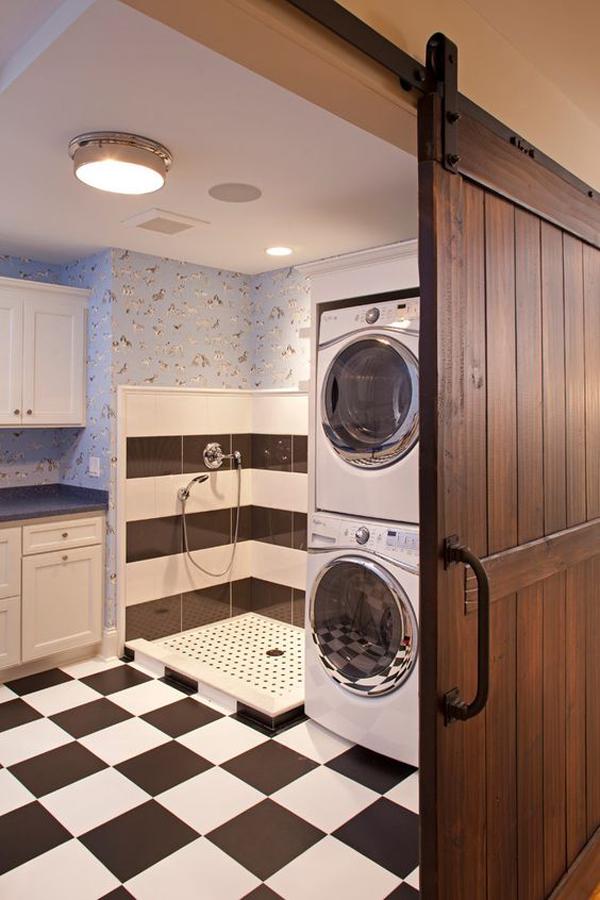 small-laundry-dog-wash-with-sliding-barn-door