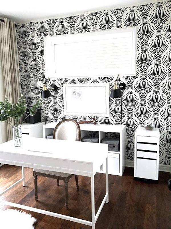stylish-lotus-home-office-wallpaper