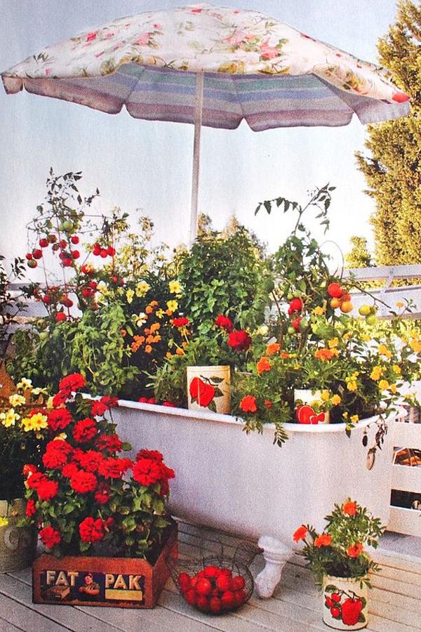summer-flower-garden-with-old-bathtub
