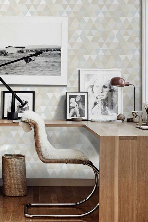triangle-pattern-home-office-wallpaper