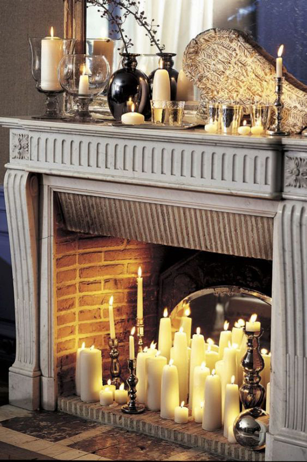 vintage-candle-fireplace-ideas