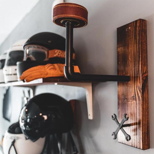 wood-and-industrial-helmet-rack-ideas