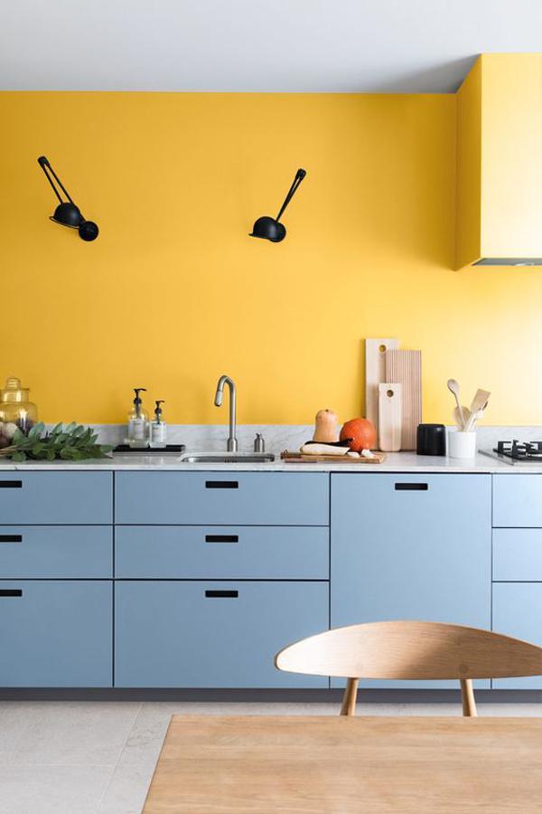 beautiful-yellow-kitchen-color-wall