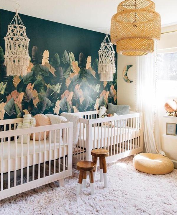 bohemian-twin-nursery-ideas