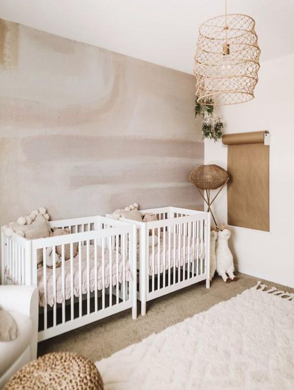 boho-twin-nursery-ideas-for-girl