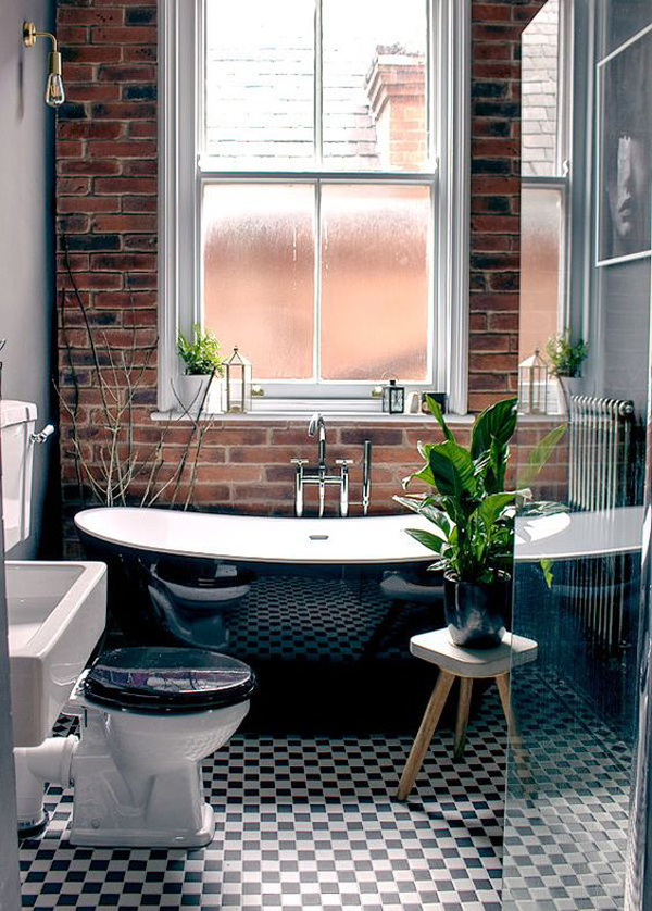 cozy-industrial-bathroom-with-brick-wall