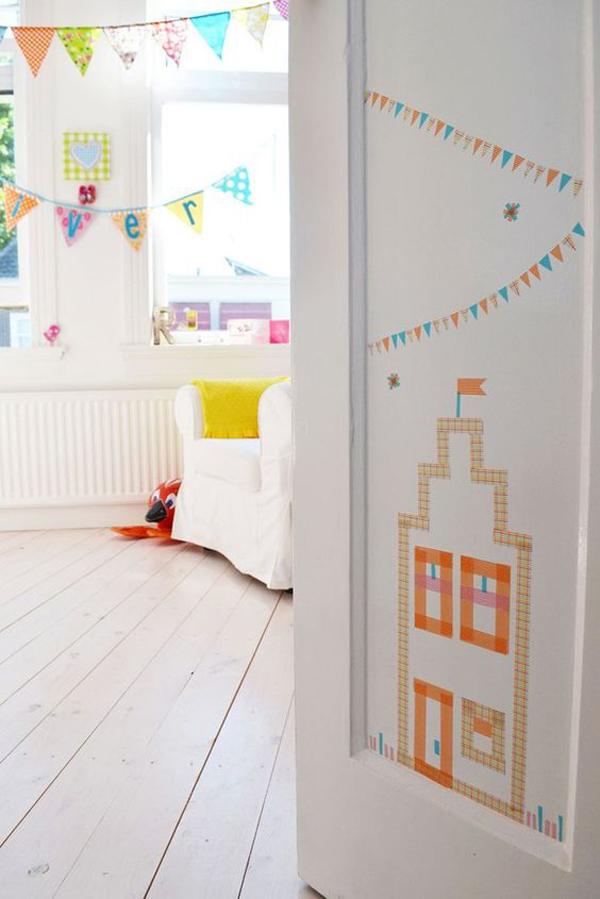diy-washi-tape-door-decor