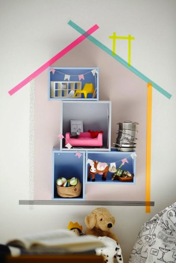 10 Creative Ways To Decorate Kids Room With Washi Tape