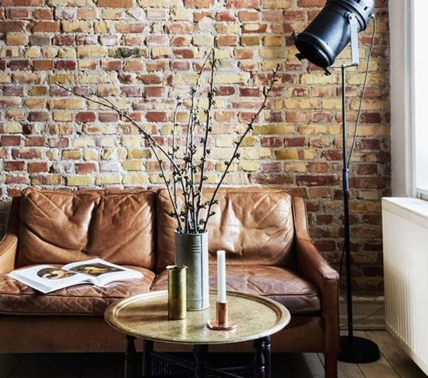 8 Exposed Brick Background Interior For Industrial Style