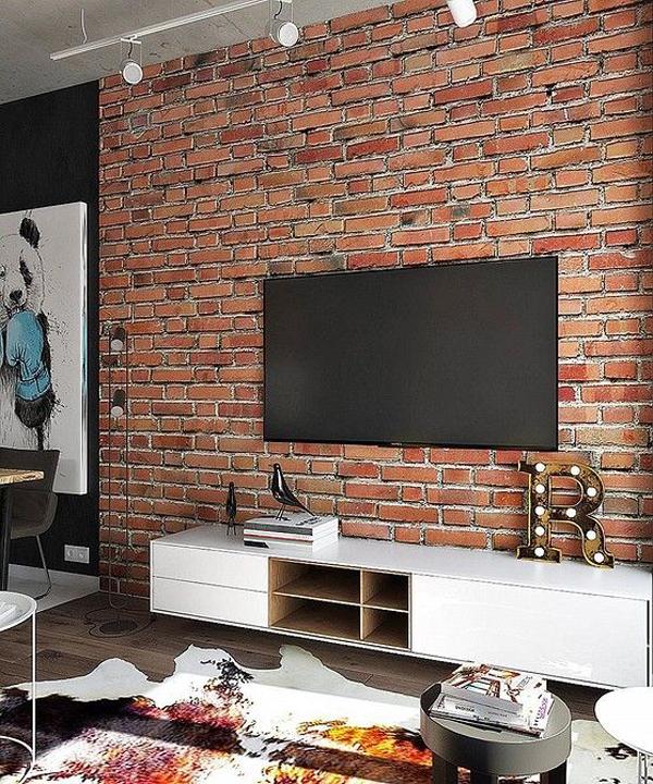 exposed-brick-tv-wall