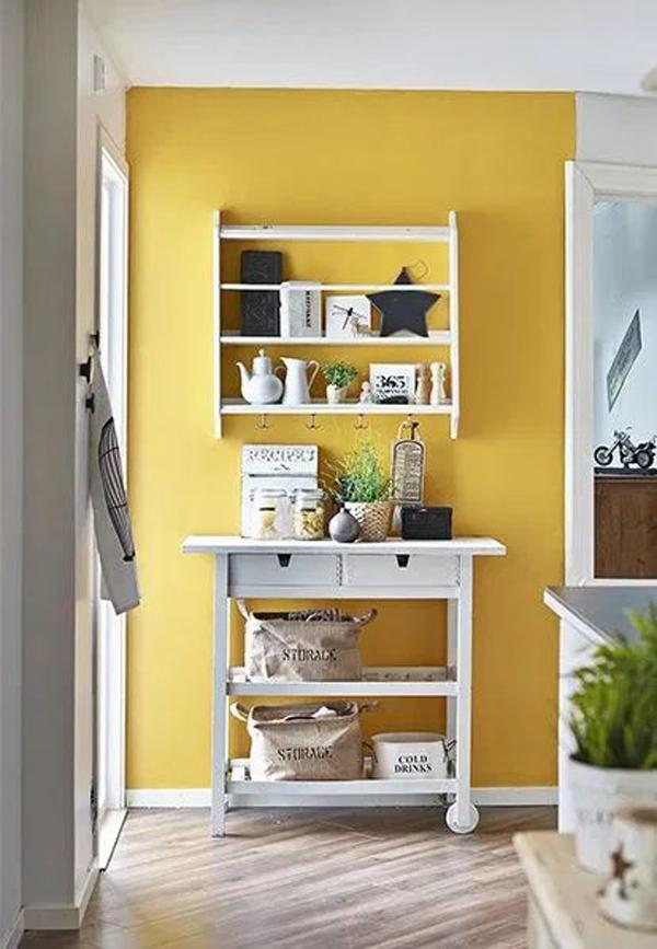 farmhouse-yellow-kitchen-wall-decorating