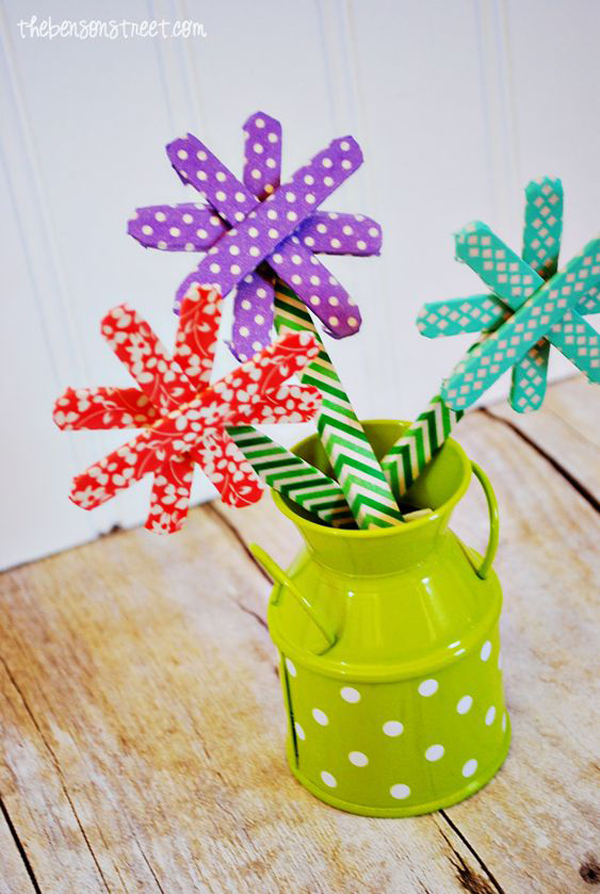 fun-washi-tape-flower-vases