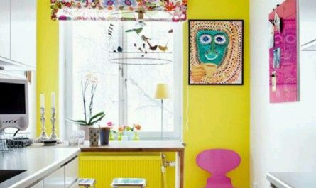 fun-yellow-accent-wall-color