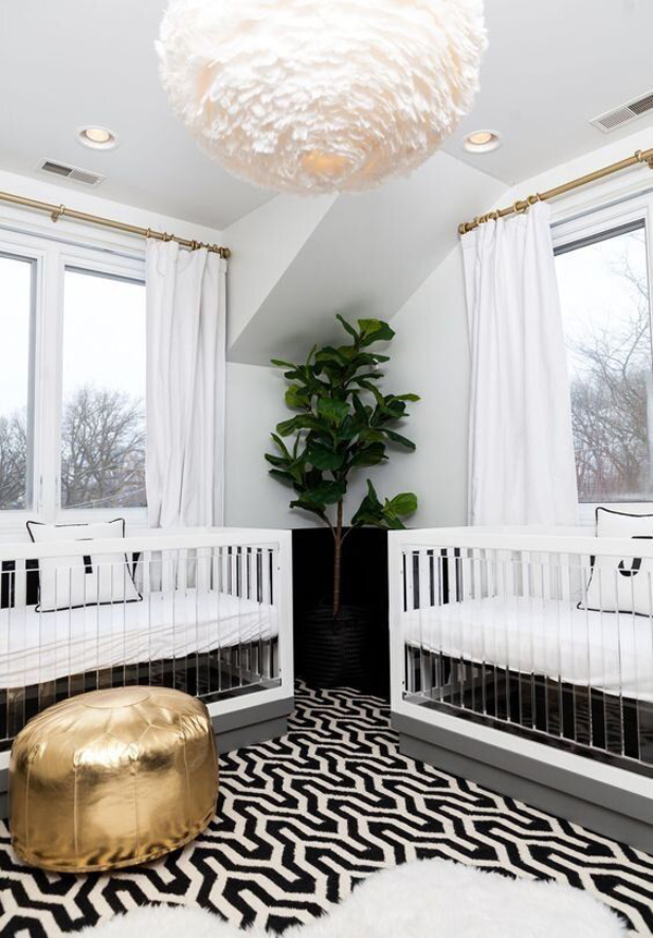 gender-neutral-twin-nursery-with-open-concept