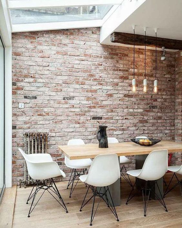 industrial-dining-room-with-exposed-brick