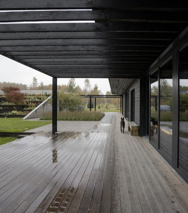 Pavilion-style House With 360 Degree Of The Rural Landscape