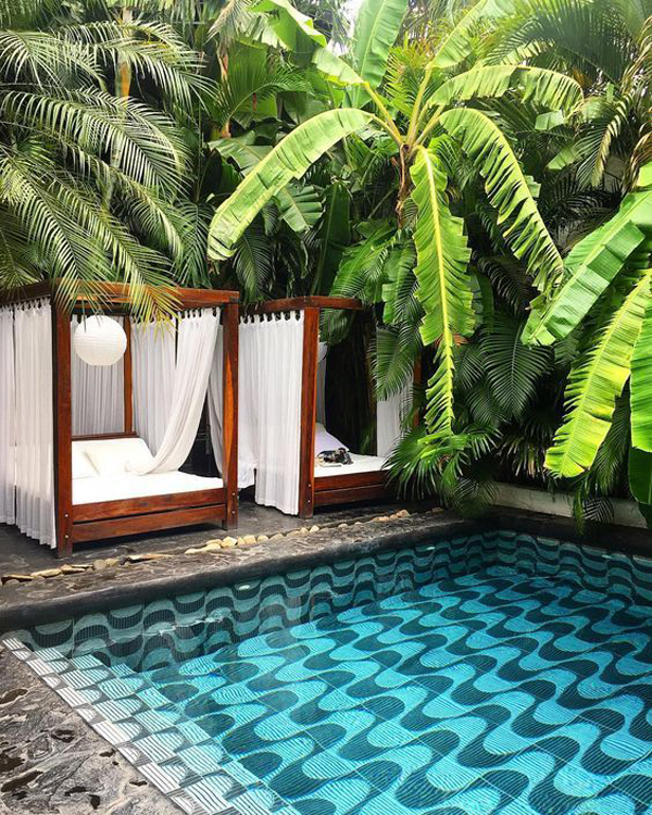 lush-tropical-pool-garden-with-outdoor-bed