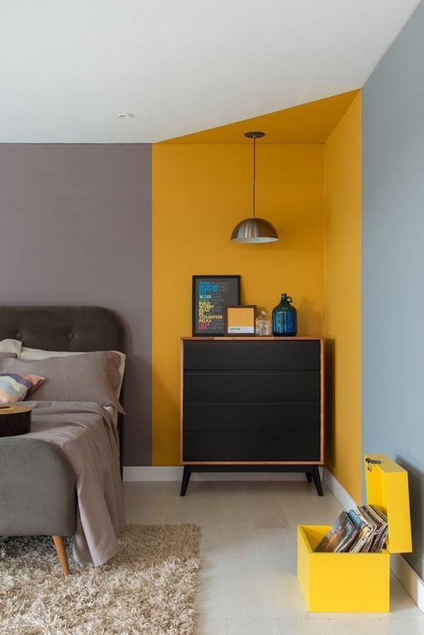 modern-bedroom-with-yellow-and-grey-accent-walls