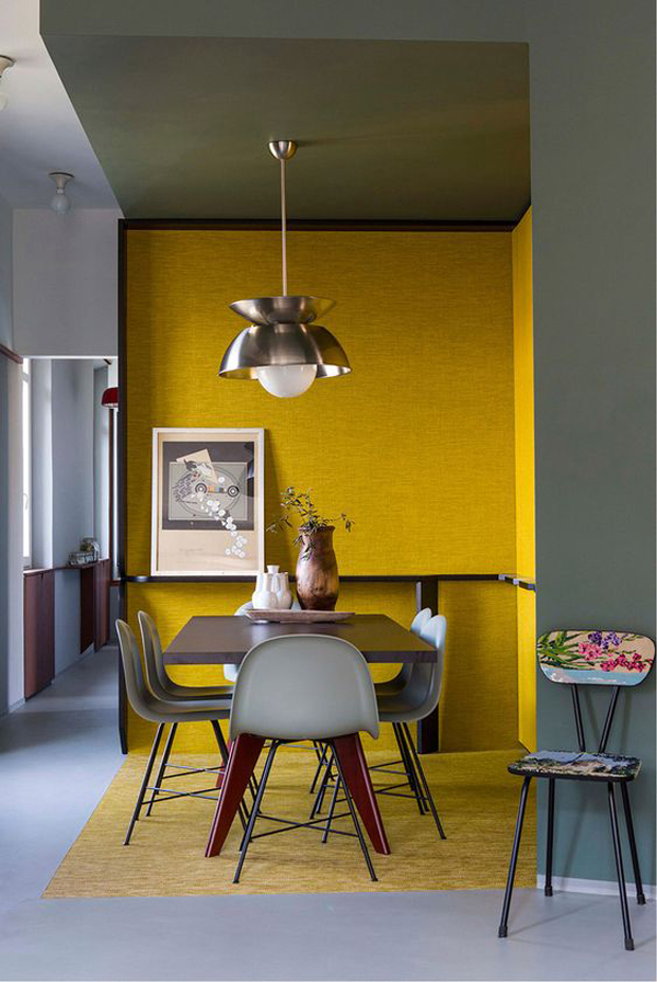 modern-dining-room-design-with-yellow-accent-walls