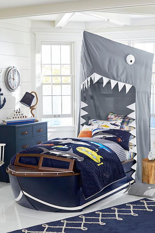 shark-theme-kid-bedroom-design