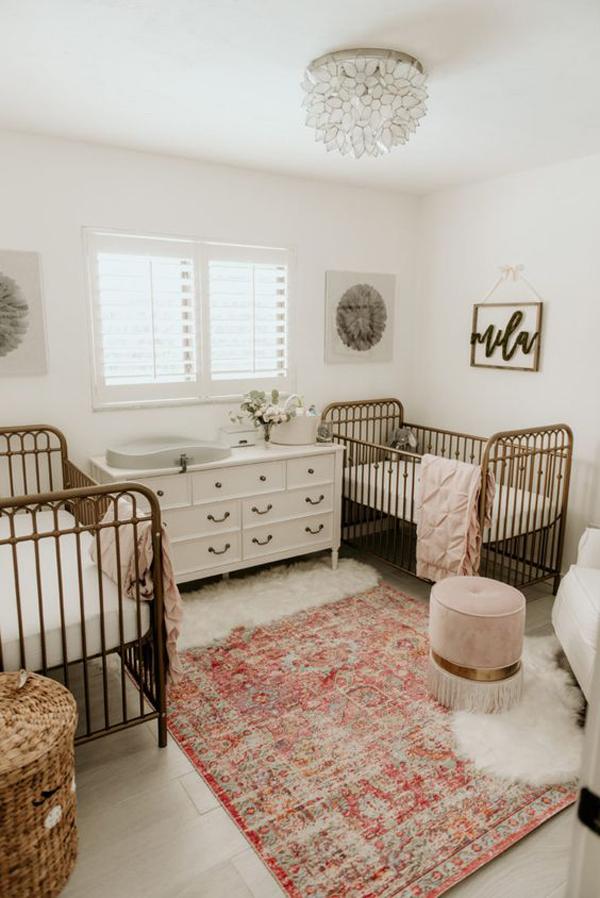 vintage-twin-nursery-for-little-girl