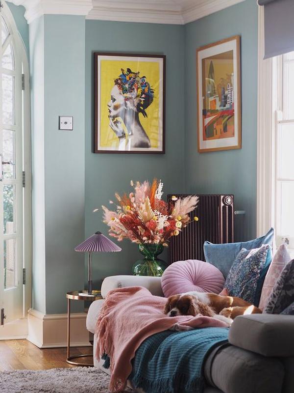 antique-blue-living-room-decor