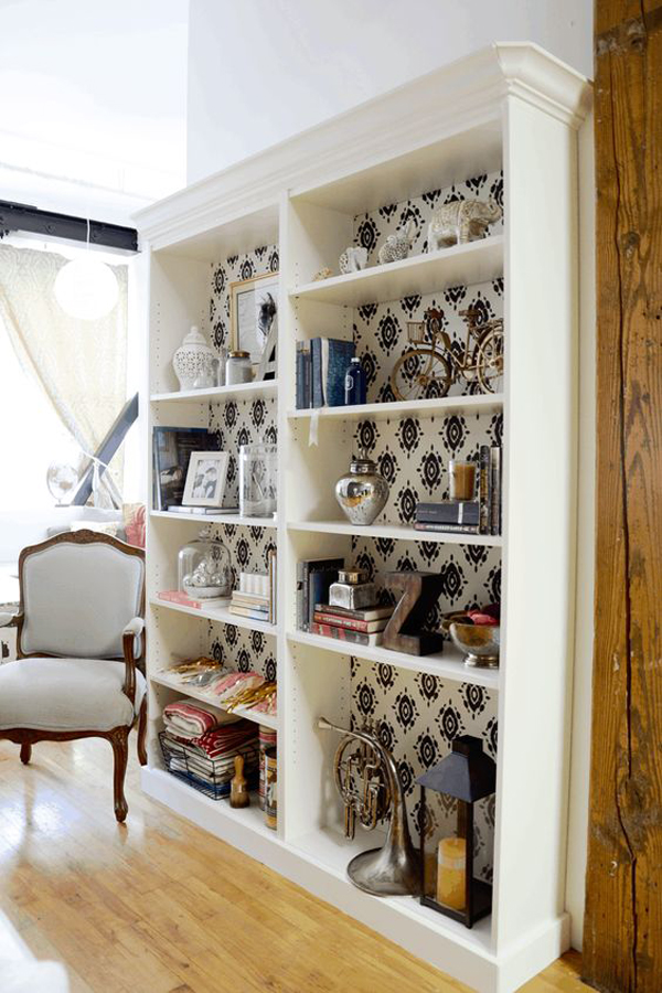 beautiful-billy-bookcase-with-wallpaper