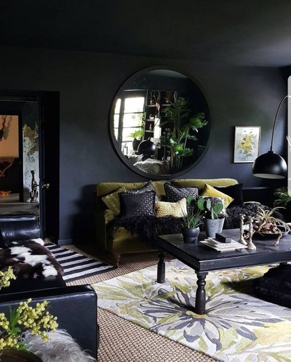 black-living-room-color-decor