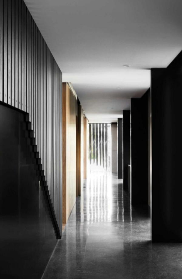 contempory-black-hallway-interior-design