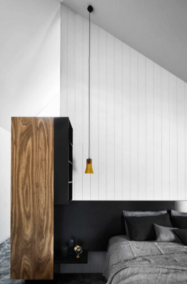 cool-black-bedroom-with-pendant-lamp