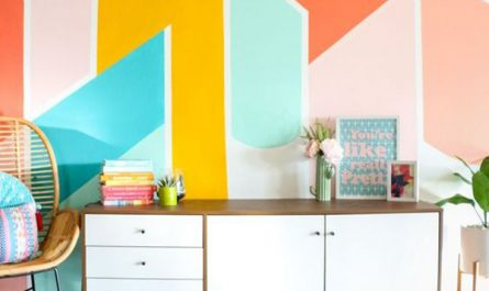 diy-painted-geometric-wall-ideas