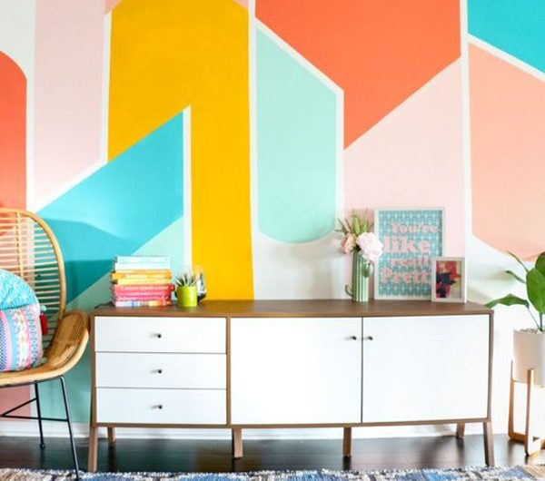 30 Colorful Wall Ideas That Make Your Room More Cheerful