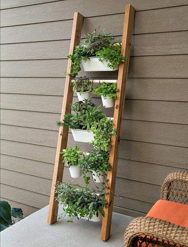 diy-vertical-garden-ideas-with-ladder