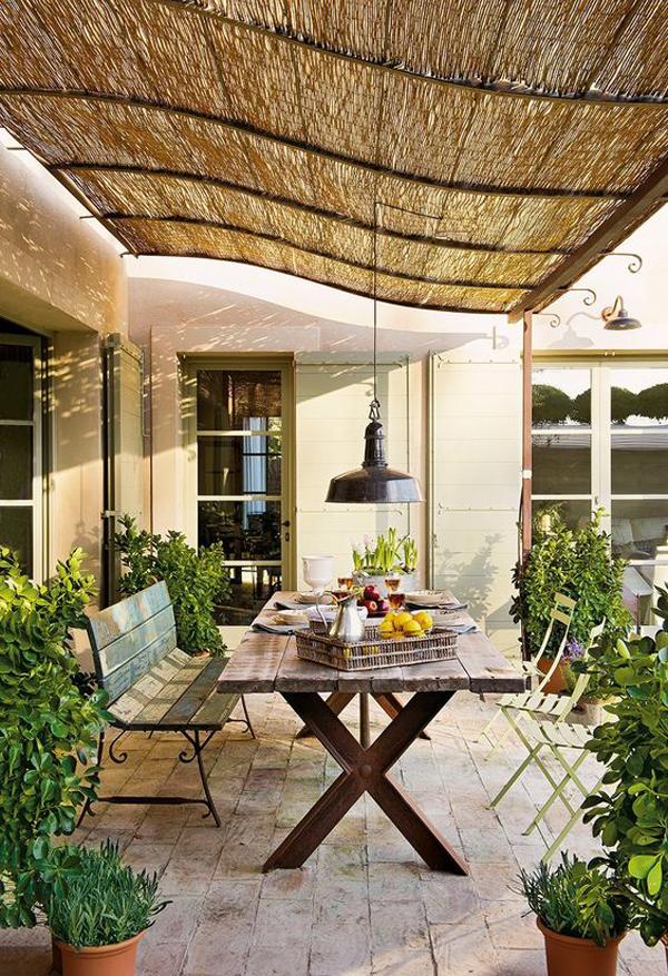 farmhouse-bamboo-pergolas-for-outdoor-dining-space