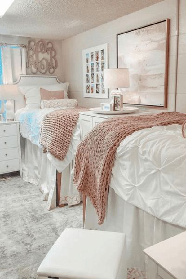 functional-pink-dorm-room-for-two