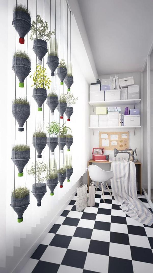 indoor-anging-bottle-plant-for-vertical-garden