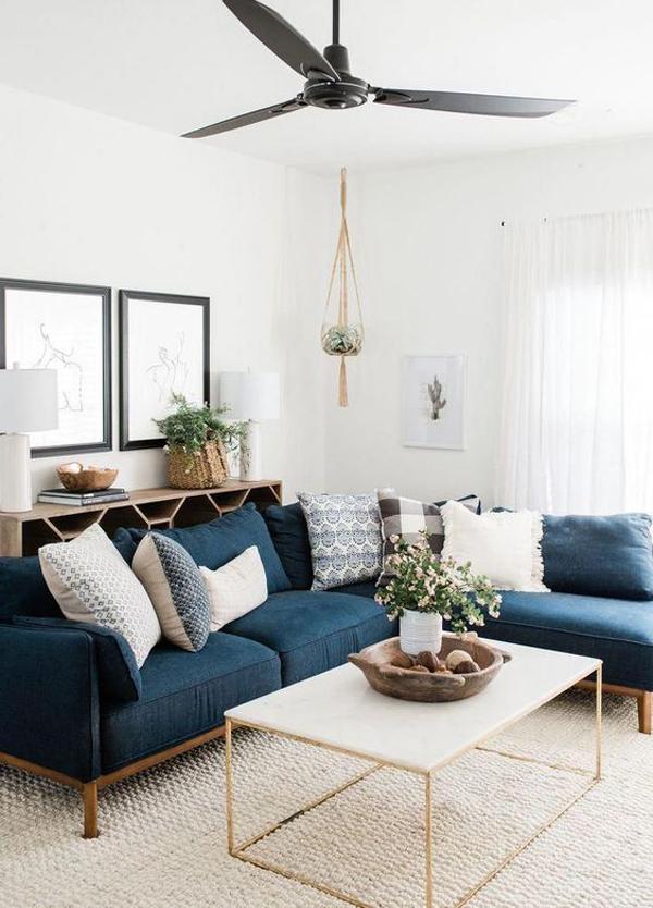 modern-boho-living-room-with-blue-velvet-sofas