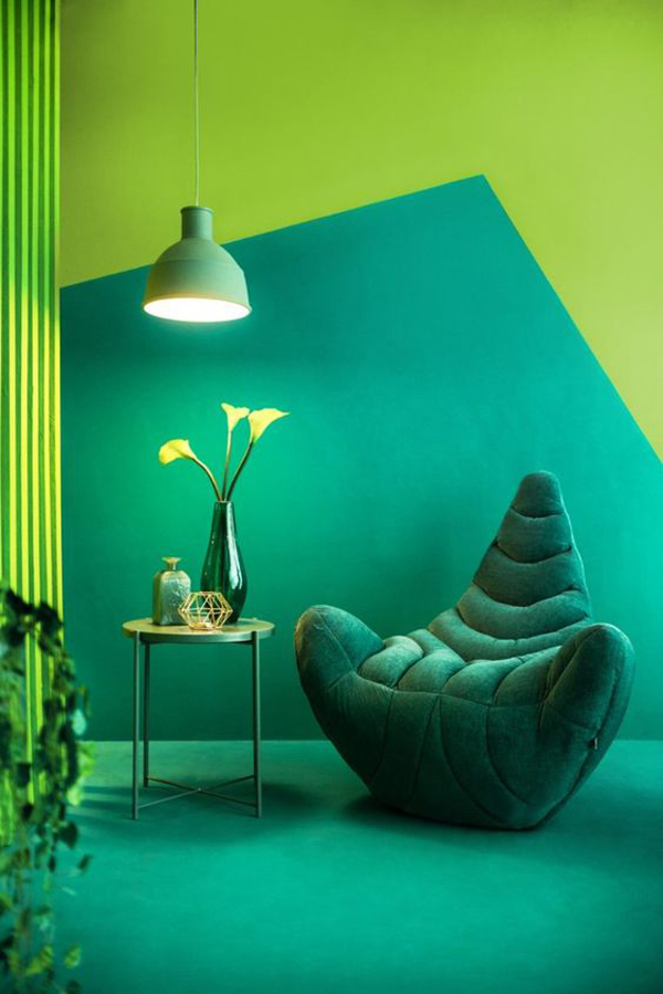 monochromatic-green-painting-ideas