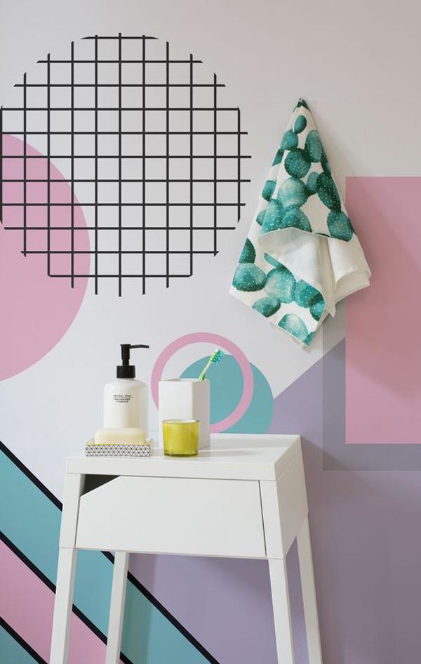 pastel-modern-shapes-wallpaper-mural-for-bathroom