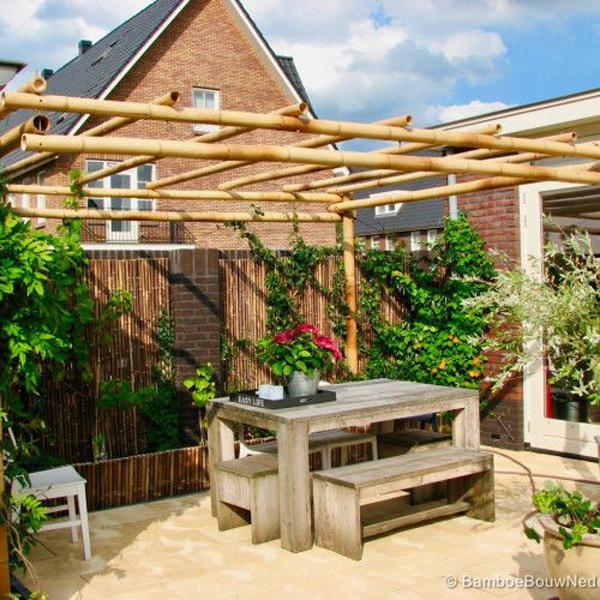 simple-diy-bamboo-pergolas-for-small-backyard