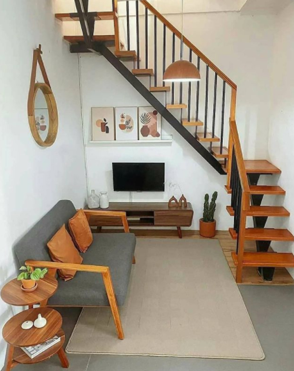 8 Cool TV Unit Design In Under The Stairs