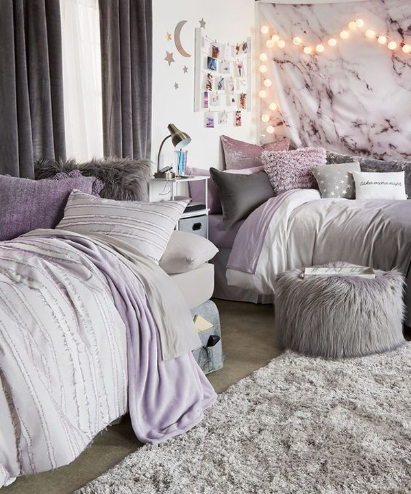 stylish-dorm-room-ideas-with-purple-accents