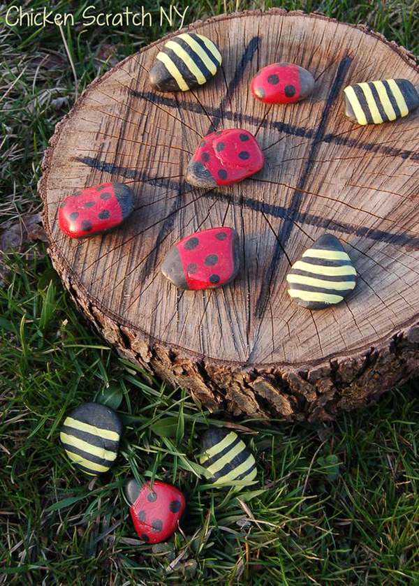tic-tac-toe-garden-ideas-with-painted-rocks