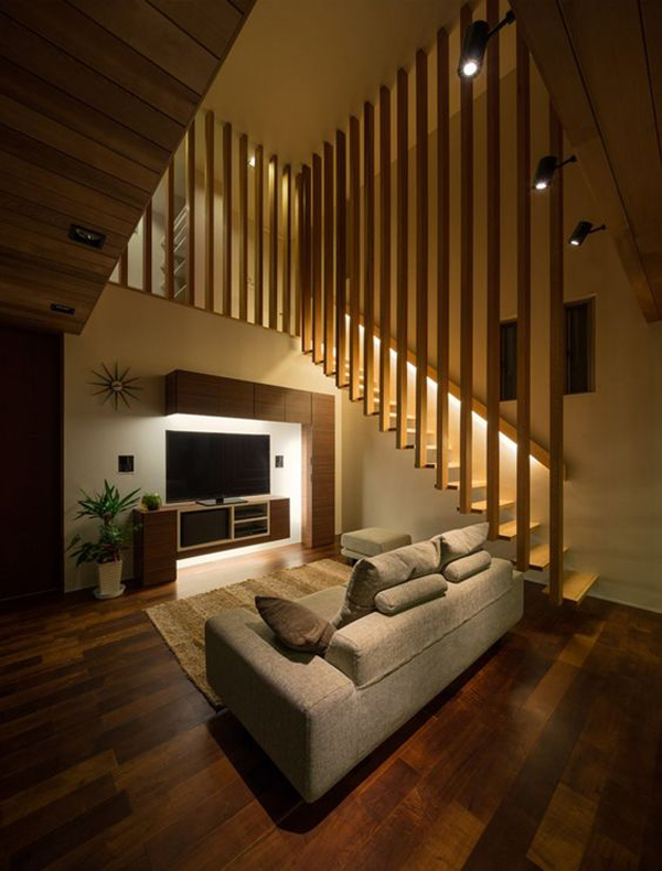 wooden-staircase-with-tv-unit-design