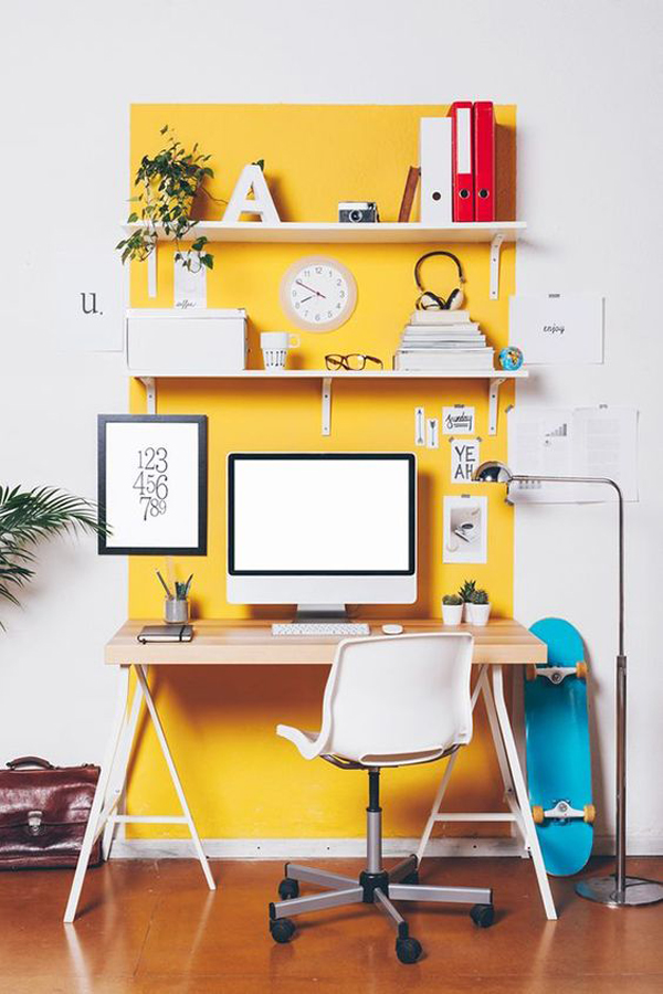 yellow-home-office-design