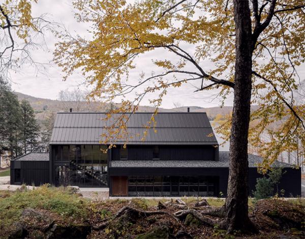 MTR Lake Houses by Alain Carle Architecte